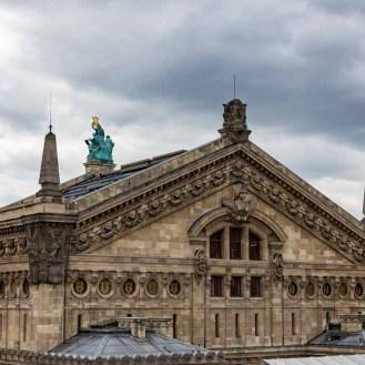 Vista do Terraço da Galerie Lafayette em Roteiro de 5 dias em Paris