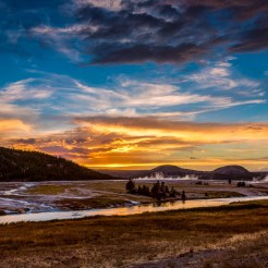 Golden Hour no Yellowstone National Park