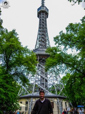 Torre Petrín na Cidade de Praga