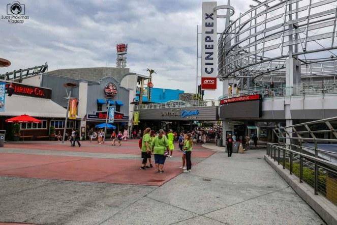 Entrada do Universal City Walk em Parques em Orlando