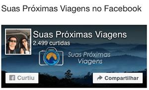 Link do Facebook do Suas Próximas Viagens