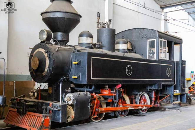 Imagem da Locomotiva do Bondinho Turístico de Campos do Jordão