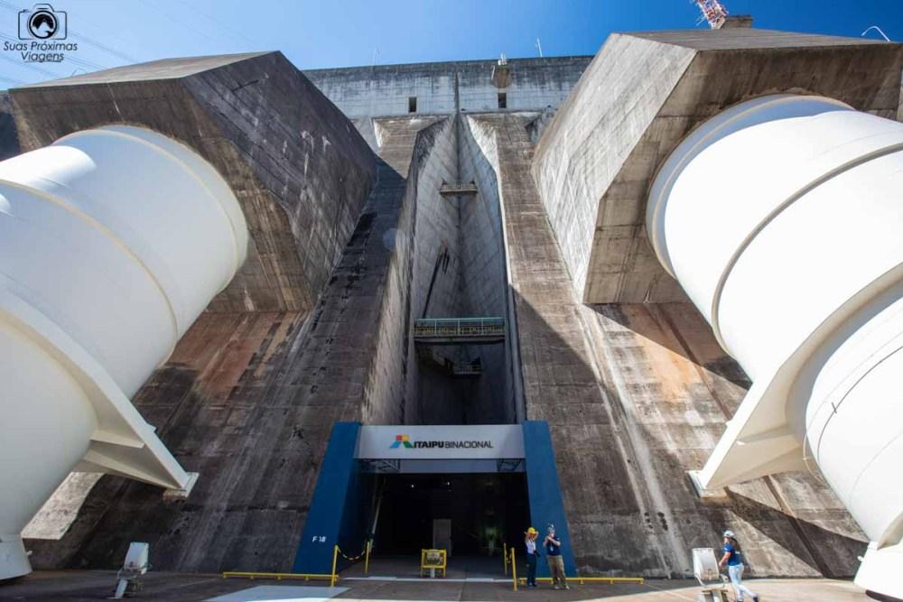 Vista da Entrada da Administração da Usina de Itaipu
