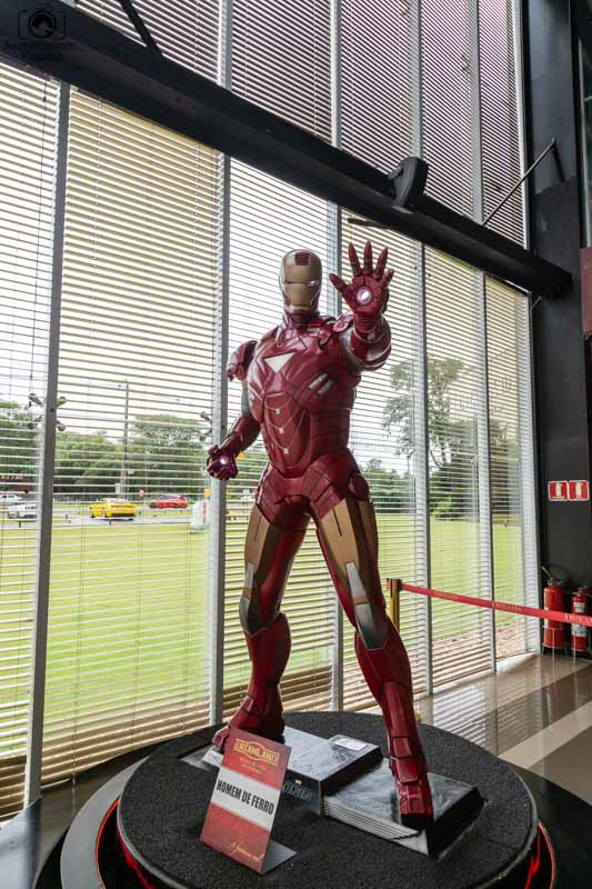 Vista da Estátua de Cera do Homem de Ferro
