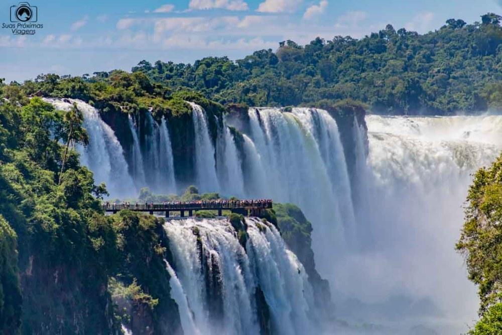 Vista das Cataratas em Puerto Iguazú