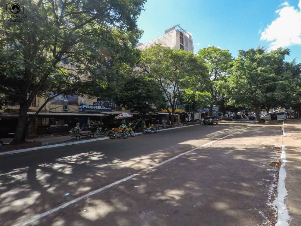 Vista de Ciudad del Este após as 17h em Compras Paraguai