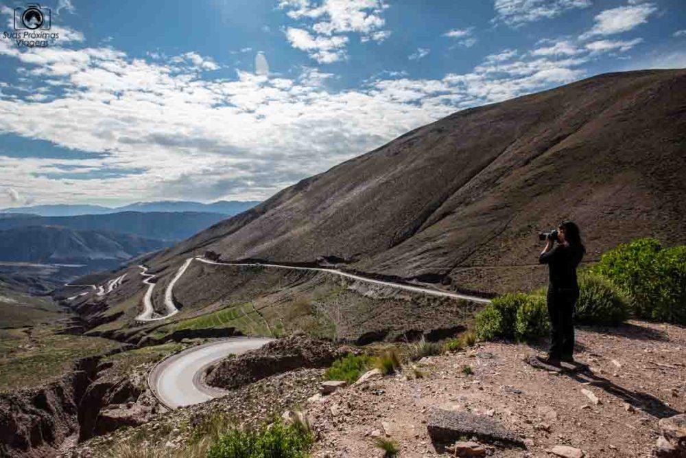 Vista da Cordilheira próxima ao Paso de Jama indo para o Atacama de Carro