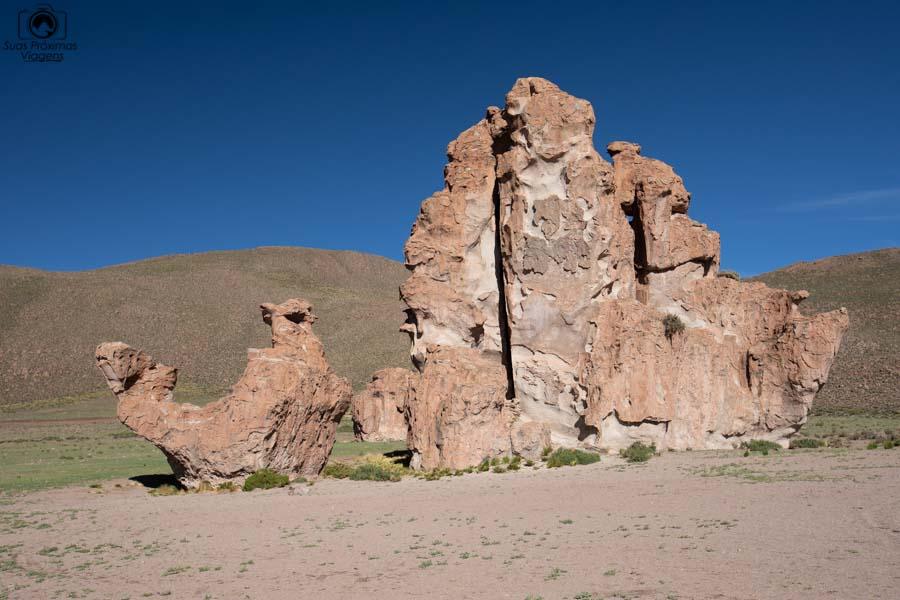 Foto da estrutura de pedra no formato de Camelo no caminho ao Salar