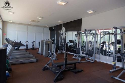 Foto da academia de ginástica do hotel