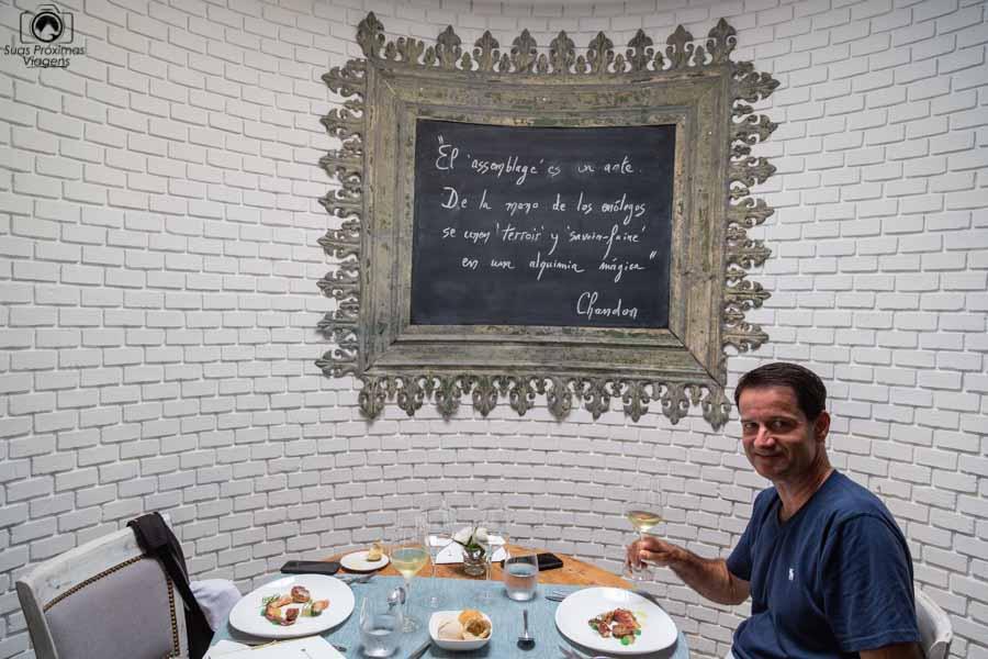Imagem do almoço no bistro da Chandon em Mendoza Argentina