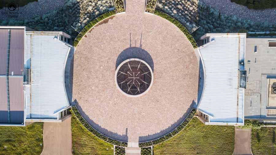 Imagem aérea do centro da adega