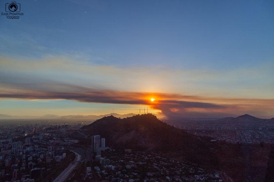 Imagem do Cerro San Cristóbal em Santiago