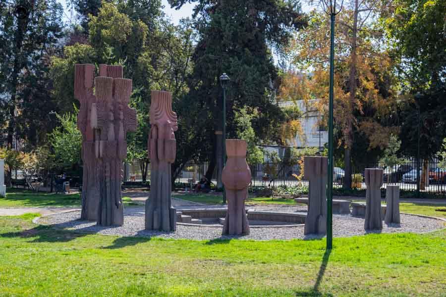Imagem de Escultura no Parque de mesmo nome em Santiago