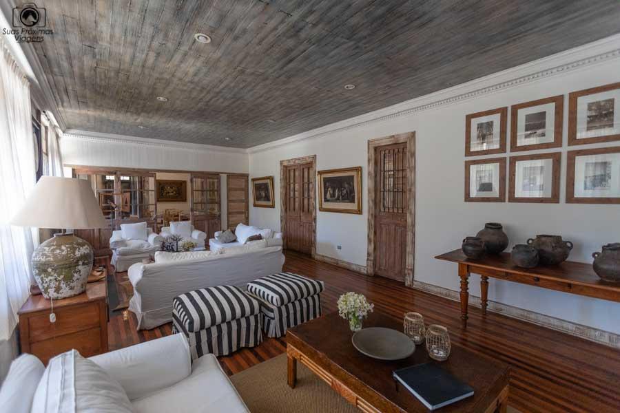 Imagem da Sala de estar do hotel casa silva no vale do colchagua