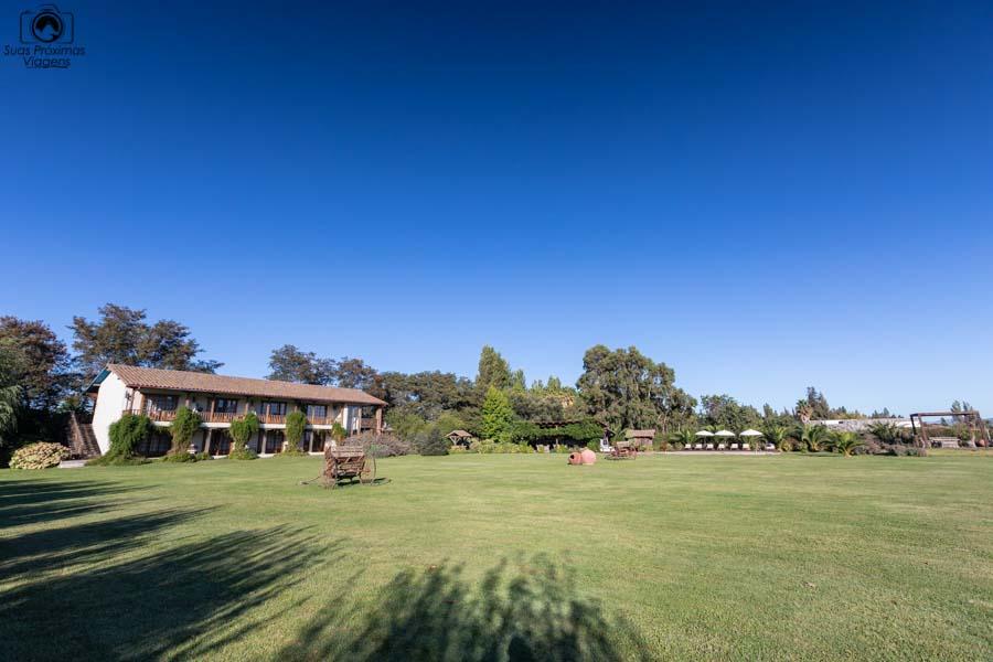 imagem da área interna do hotel casa de campo no valle de colchagua