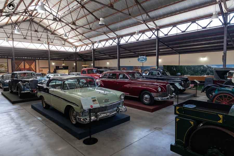 Imagem do museu do automóvel na Viña Santa Cruz em Vale de Colchagua