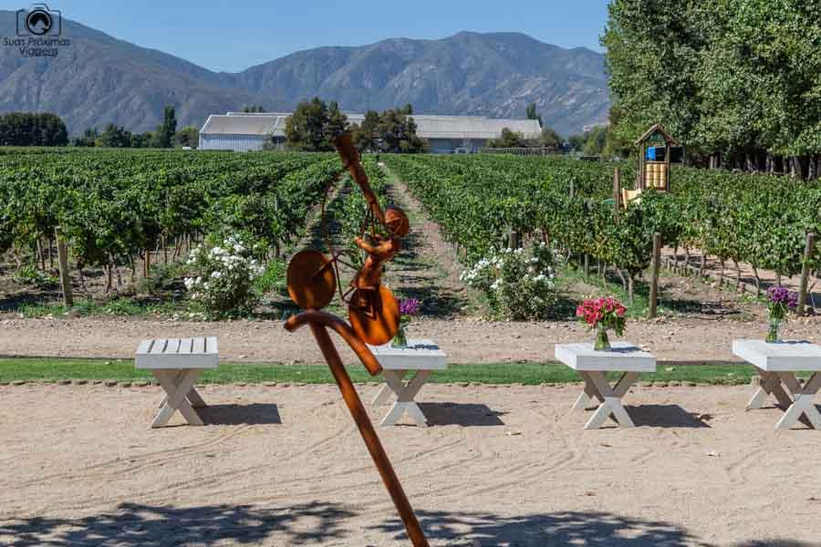 Imagem da vista desde o restaurante Rayuela na vinícola Viu Manent