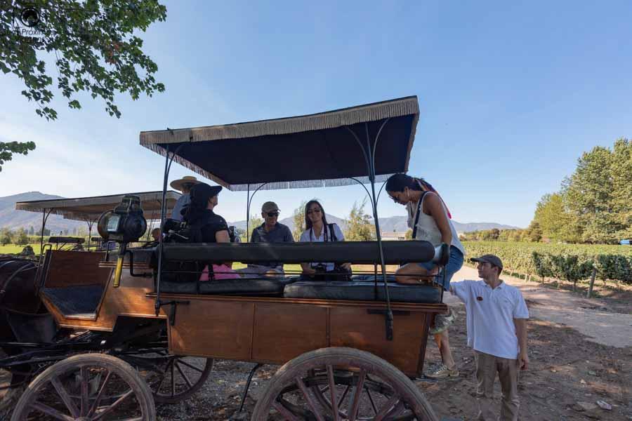 Imagem do inicio do tour da história da viña Viu Manent em Valle de Colchagua