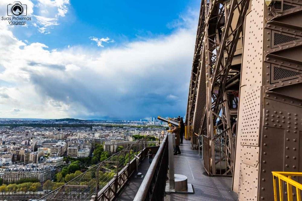 Vista do 1o Andar da Torre Eiffel