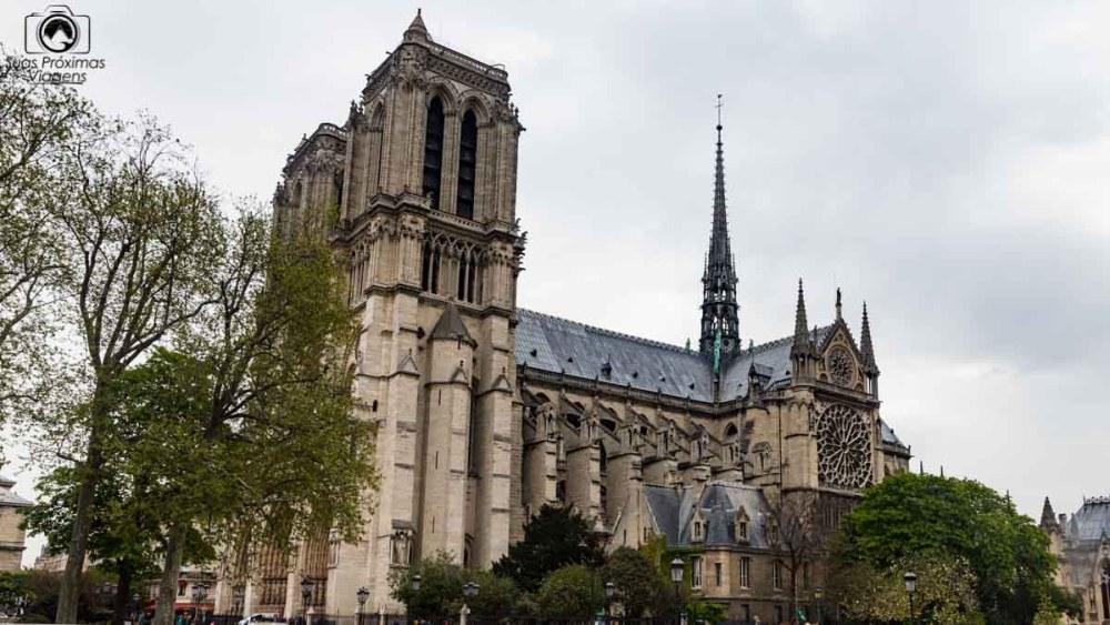 imagem da Catedral Notre Dame em o que fazer em Paris