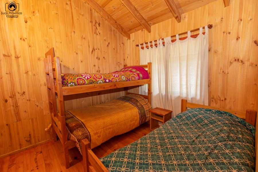 Imagem do quarto extra da cabana do Mirador Los Volcanes