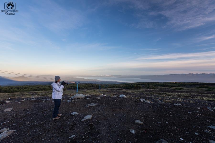 Vista desde a base do Vulcão Villarica em o que fazer em Pucón Chile