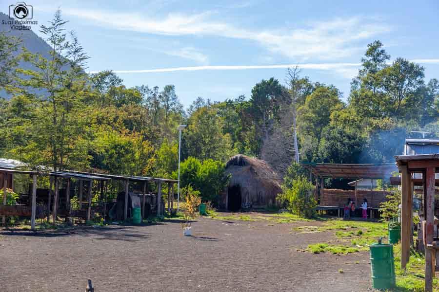 Imagem da comunidade mapuche em Pucón