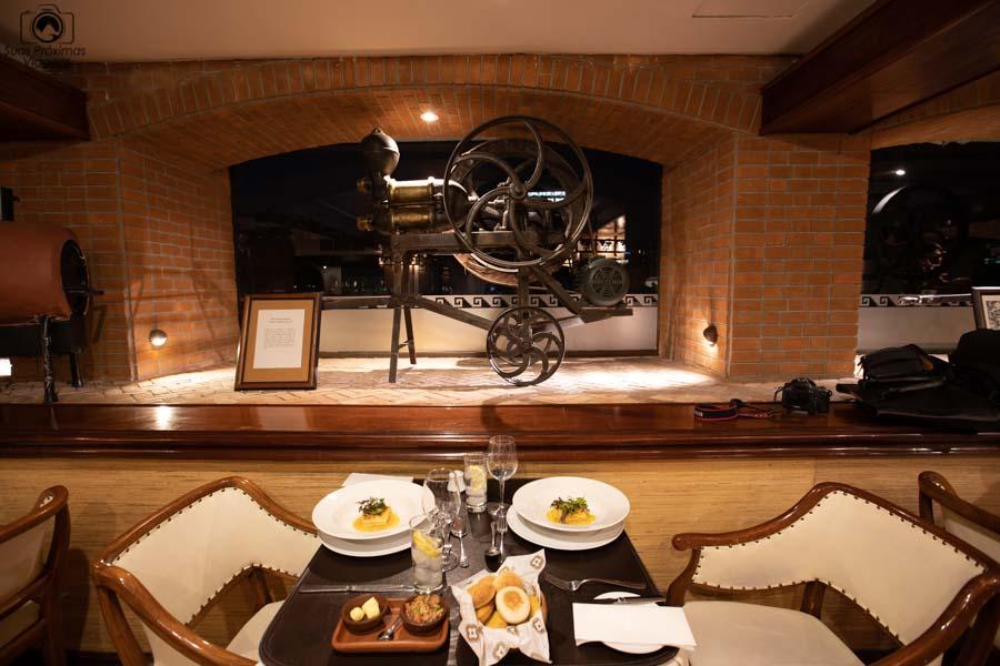 foto do jantar no restaurante do Hotel Galerias
