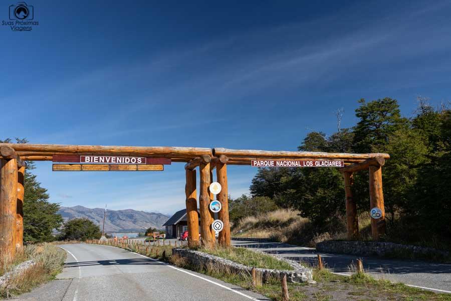 Imagem da entrada do parque dos glaciares