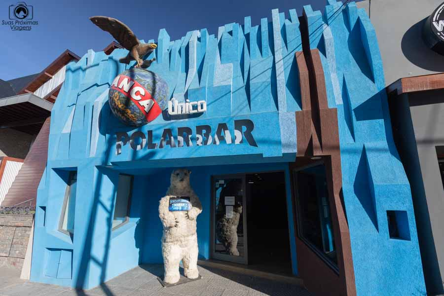 imagem da entrada do bar de gelo em El Calafate