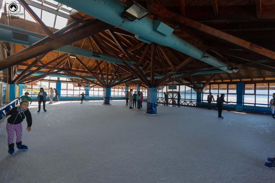 Imagem da pista de patinação em o que fazer em Bariloche