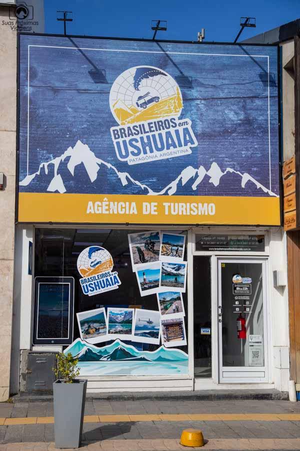 imagem da entrada da Brasileiros em Ushuaia