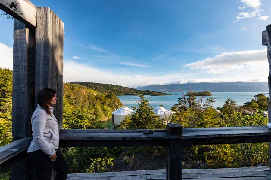 Imagem da vista desde a varanda do restaurante do Patagônia Camp