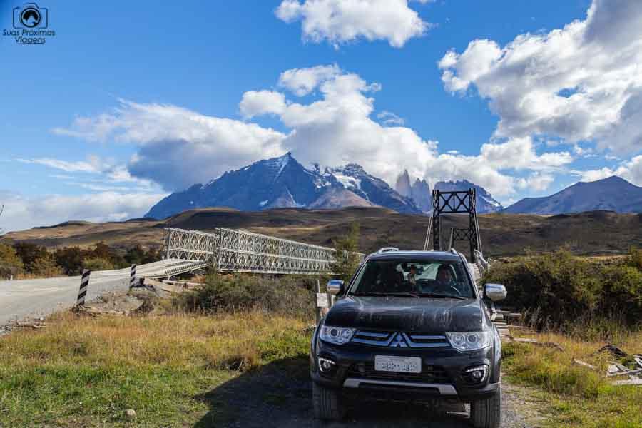 imagem do pajero em Torres del Paine