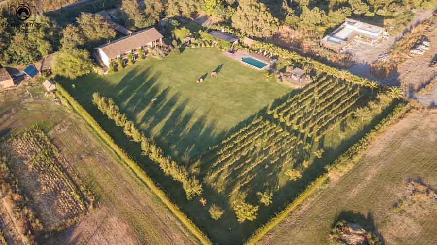 vista aérea do hotel casa de campo