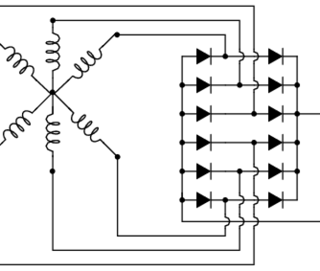 Six Phase Full Wave Bridge Rectifier Circuit