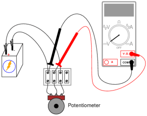 Potentiometer as a Voltage Divider | DC Circuits