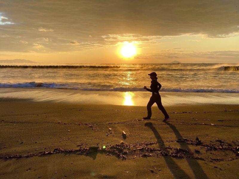 河津温泉郷で日の出を見ながら朝ラン