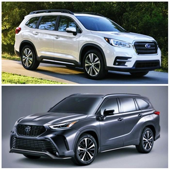 2021 Subaru Ascent vs. 2021 Toyota Highlander