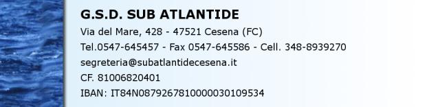 Contattaci, Barra Sub Atlantide