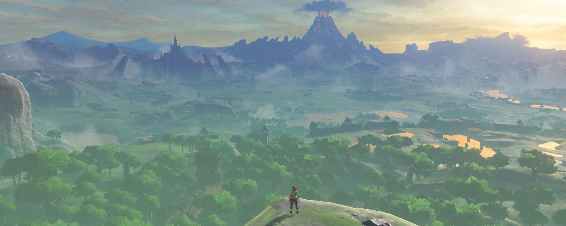 panorama dans le jeu The legend of Zelda Breath of the Wild
