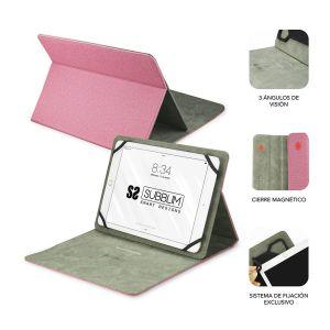 Funda tablet clever universal 10.1 pulgadas rosa