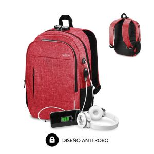 Mochila Urban Lock color rojo