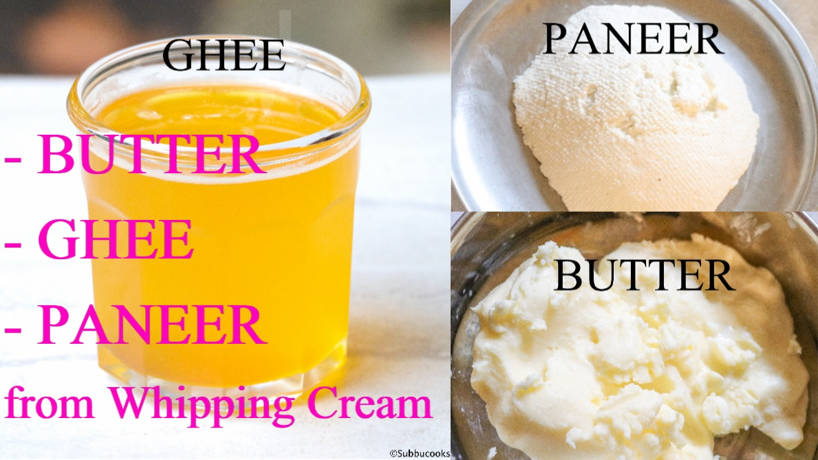How to make whipped cream using milk and butter