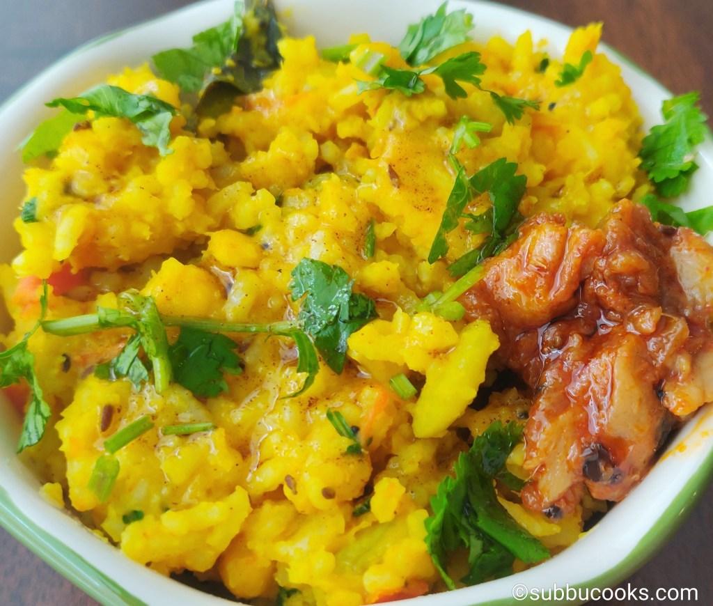 Masala Khichdi Instant Pot | Guest post – Subbu Cooks