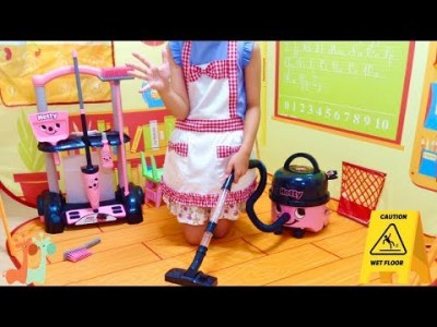 メルちゃんの学校 おそうじ お掃除セット / Cleaning Mell-chan School Classroom : Hetty Cleaning Trolley