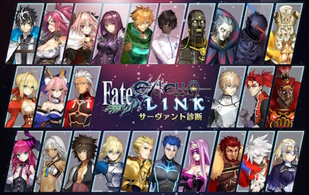 Fate/EXTELLAサーヴァント診断