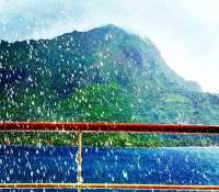 Talk about heavy rain… Experienced a brief downpour this afternoon and it was by far the heaviest rain I've ever been in !!! #rain #downpour #tropics #rainyseason #bucketingitdown #morea #frechpolynesia #travels #Holiday #paulgauguincruises #pgcruises #msPaulGauguin @paulgauguincruises