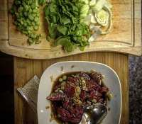 Making my sister a Beef Teriyaki with Bok Choy for a post work meal… #SiblingDuties