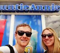 When you're walking around Miami and find a cafe named after your Auntie Annie… Ok, a little Photoshop required!